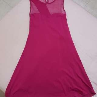 New! Fuchsia mesh dress