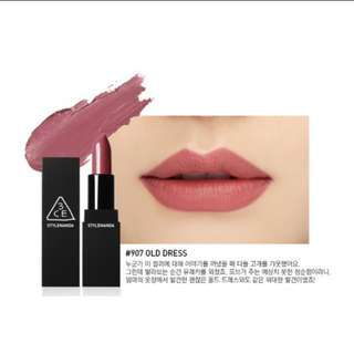 3CE Matte Lip Color in #907 Old Dress