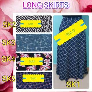 BNIT LONG SKIRTS WITH FREE SMARTPAC