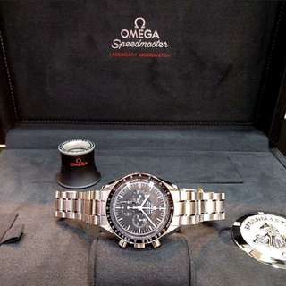 * OPEN TO TRADE *Brand New 100% Authentic Omega SpeedMaster Professional First Omega on the Moon MoonWatch Sapphire Glass 311.30.42.30.01.006 Flight Certified  By NASA
