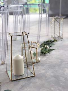 Props Rental/ Glass Terrarium/ Geometrical Candle holder