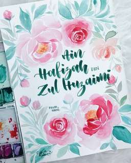 Calligraphy Handlettering Watercolor