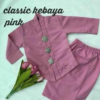 Classic pink baby kebaya (6mnth -1 year)