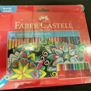 Faber-Castell Colour Pencil 60pcs with roller case (Special edition)