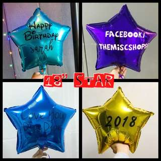 "18"" Personalised Star Balloon"