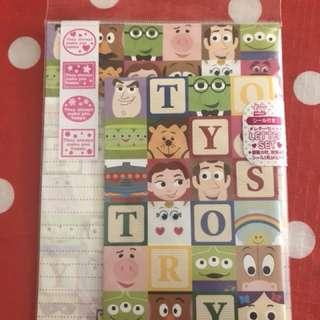 Toy Story 信紙連信封 購自日本 包郵