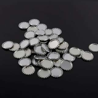 100pcs bottle caps flat metal 1 inch