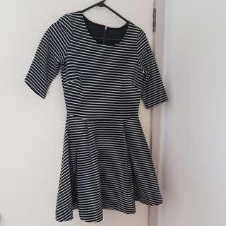 B&W Skater Dress