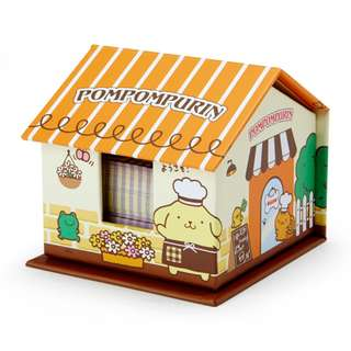 Japan Sanrio Pompompurin House Shaped Case Memo & Sticky Notes