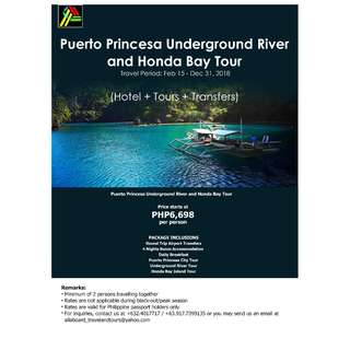Puerto Princesa Underground River and Honda Bay Tour