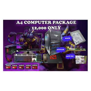 A4 AMD Computer Package