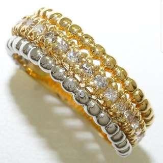 0.5 ct - 18k & Pt900 Diamond Ring