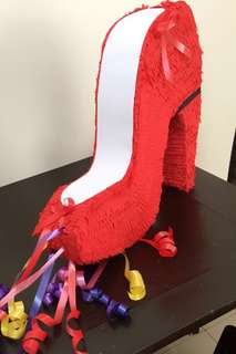Red shoe pinata