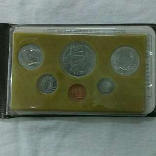 1981 Singapore 1¢--$1 Stylised Loin coin set