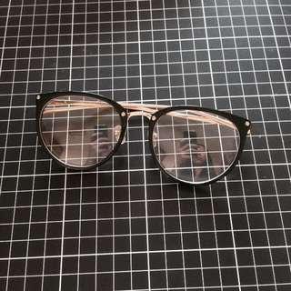 復古圓框眼鏡(黑)