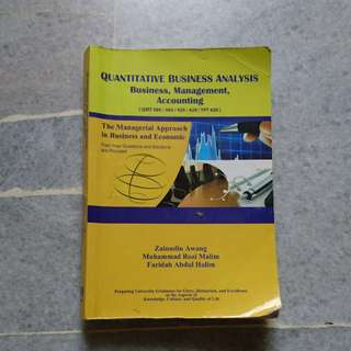 Quantitative business analysis (QMT) #15Off