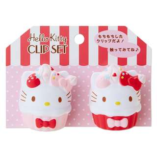Japan Sanrio Hello Kitty Squeeze Clip Set (Sweets)