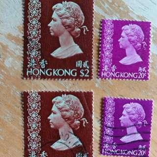 香港郵票97年回歸前女皇像已銷郵票A005