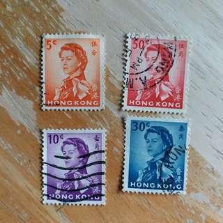 香港郵票97年回歸前女皇像已銷郵票A010