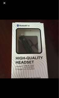 Brand new bluetooth 4.1 headset