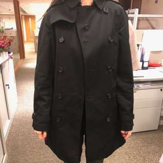 Burberry Black Trench Coats ( Child Size 14 )