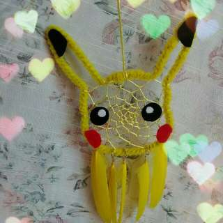 Pikachu inspired dreamcatcher