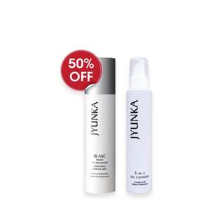 JYUNKA 5-IN-1 CLEANSER & BLANC WHITENING ESSENCE MIST SET