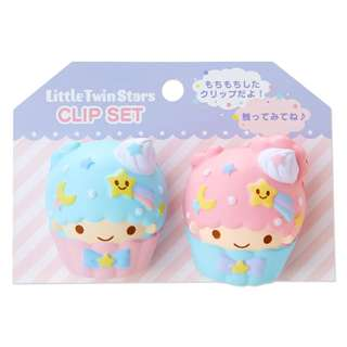 Japan Sanrio Little Twin Stars Squeeze Clip Set (Sweets)