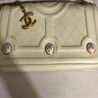 Chanel flap bag with vintage chain