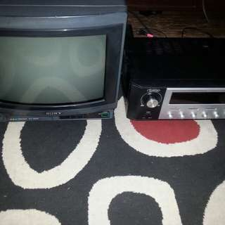 Vintage sony uhf tv