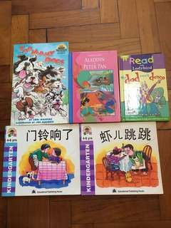 Preschool books (lady bird, Chinese reader, early step into reading) pre-primary, kindergarten