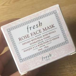 Fresh Rose Face Mask 30ml