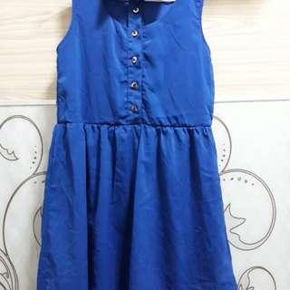 blue dress free size