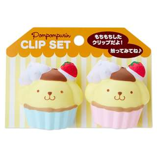 Japan Sanrio Pompompurin Squeeze Clip Set (sweets)