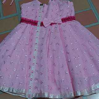 Pink Embroidered Dress for Baby Girl