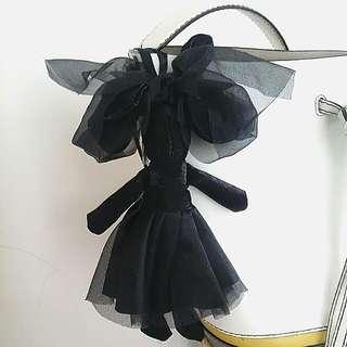 Black Lady Rabbit Key chain, Bag Accessory