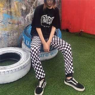 checkered sweatpants
