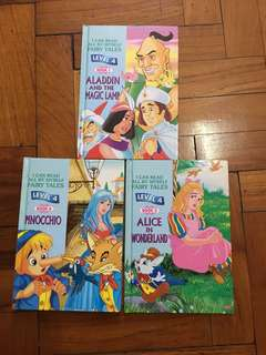 I can read all by myself (Aladdin, Pinocchio and Alice in wonderland) preschool, pre-primary