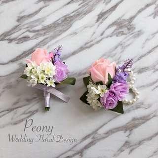 Peony Wedding: 襟花/ 手花 [訂造款]