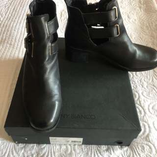 Tony Bianco Black Buckled Boots