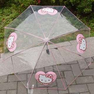 Preorder hello kitty transparent umbrella