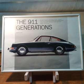 保時捷911(1964)老廣告