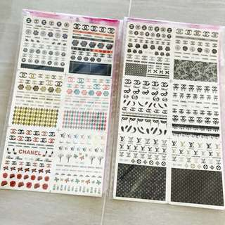 BNIP Chanel Nail Stickers