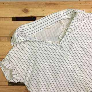 Off-shoulder Baseball Top