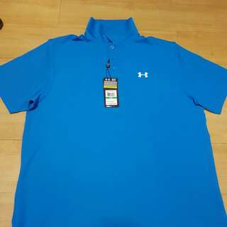 Under Armour Golf Polo Shirt ( Dri Fit) Large