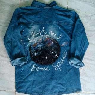 Hand Painted Denim Shirt