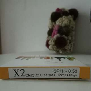 Softlens X2 Chic by Exoticon Brown ( -0.50 )
