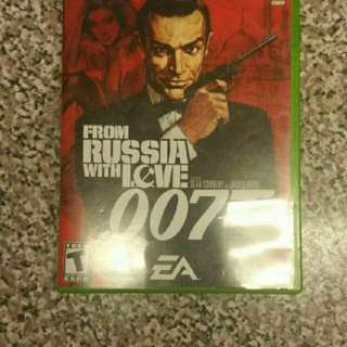 007 From Russia With Love EA Electronic Art Xbox Video Game