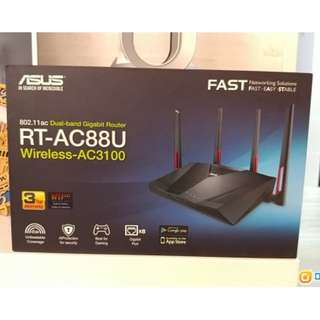"ASUS RT-AC88U ""AC3100 Dual Band Gigabit WiFi Gaming Router"""