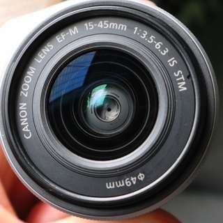 90%新 (銀色)Canon EF-M 15-45mm f/3.5-6.3 IS STM 行貨有保至2018年8月